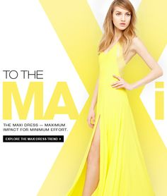 DKNY - Spring Trend Report: The Maxi Dress