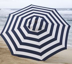 Navy striped umbrella