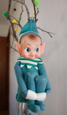 vintage 'elf' ornament