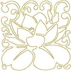 Continuous Line Lotus Flowers
