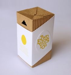 Two Eggs for You is an idea based on the fact that sometimes, you only need one or two eggs. Those who live alone, or if you're like me you rarely really have time to make a decent breakfast. Conor Whelan created this Two Eggs packaging for those days.