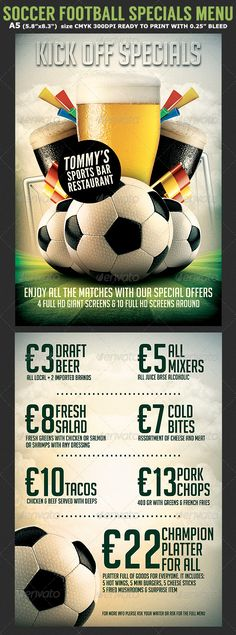 Soccer Flyer Template PSD Flyer template, Psd flyer templates - soccer flyer template