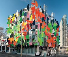 The Pixel Building, Melbourne, Australia. (o)  An experimental green building completed late last year by builder-developer Grocon, architecture studio Studio 505 and sustainability consultancy Umow Lai on the Carlton United Brewery site in Carlton.