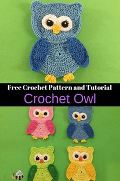 Crochet Owl Pattern Get this free crochet pattern of a crochet owl. This and many other crochet animals are available on my website, Kerri's Crochet. Crochet Applique Patterns Free, Crochet Animal Patterns, Owl Patterns, Stuffed Animal Patterns, Crochet Motif, Crochet Stitches, Free Crochet, Crochet Appliques, Free Pattern