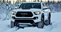 2017 Toyota Tacoma TRD Pro is loaded with useful off-road features and rugged looks. It also comes loaded with a really powerful engine under the hood. 2017 Toyota Tacoma, Toyota Tacoma Review, Tacoma Pro, Tacoma Truck, Toyota Autos, Toyota Trucks, Lifted Ford Trucks, Pickup Trucks, Toyota Hilux