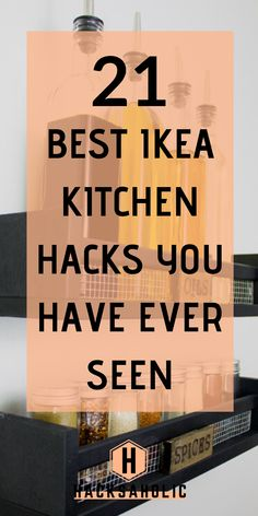Keeping your kitchen looking great and organized can be difficult, but Ikea kitc. Keeping your kitchen looking great and organized can be difficult, but Ikea kitchen hacks are here Dollar Store Organization, Ikea Kitchen Organization, Kitchen Ikea, Kitchen Storage Hacks, Cute Kitchen, Kitchen Furniture, Furniture Storage, Ikea Hack Storage, Cool Kitchen Gadgets