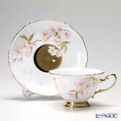 大倉陶園 碗皿ごよみ12ヶ月 夜桜(卯月)碗皿(カップ&ソーサー) 70C/E033