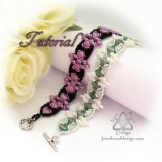 Tutorial Zena Bracelet with Kheops® Par Puca® Beads, 'O' Beads, Silky Beads and SuperDuos pdf Pattern, Instructions