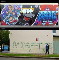 So etwas kann passieren, wenn man schöne Graffiti von Wänden entfernt.  http://www.blogrebellen.de/2011/05/05/uber-graffiti-und-penisse/