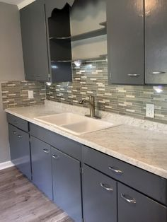 Kitchen Remodel By Rich O. Of Durham, NC. Backsplash, Counter And Flooring  By Surplus Warehouse.