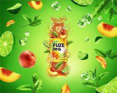 Fuze tea on Behance Ads Creative, Creative Advertising, Creative Photos, Advertising Design, Creative Design, Beer Poster, Poster Ads, Fuze Tea, Promotional Design