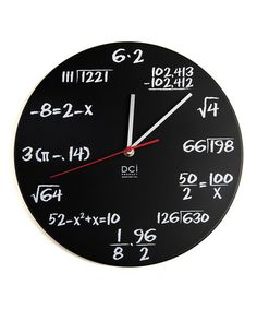 We DIYed one of these for my daughter's math teacher last Christmas. It was a big hit! Pop Quiz Clock by DCI on #zulily today!