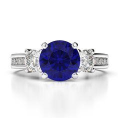 Gold / Platinum Round Cut Amethyst and Diamond Engagement Ring Blue Sapphire Rings, Pink Sapphire, Ruby Ring Vintage, Amethyst Jewelry, Gold Platinum, Diamond Engagement Rings, Rose Gold, Yellow, Black Diamond