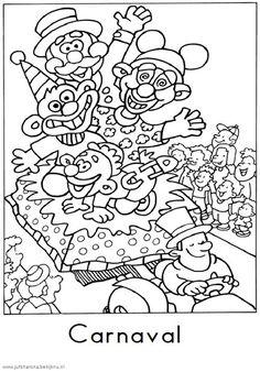 Kleurplaten Carnaval Clowns.79 Beste Afbeeldingen Van Carnaval Kleurplaten Coloring Pages