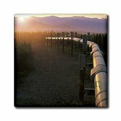 """Alaska, Brooks Range, Trans-Alaska Oil Pipeline - US02 HRO0053 - Hugh Rose - 12 Inch Ceramic Tile by 3dRose. $22.99. Clean with mild detergent. High gloss finish. Image applied to the top surface. Construction grade. Floor installation not recommended.. Dimensions: 12"""" H x 12"""" W x 1/4"""" D. Alaska, Brooks Range, Trans-Alaska Oil Pipeline - US02 HRO0053 - Hugh Rose Tile is great for a backsplash, countertop or as an accent. This commercial quality construction grade tile has a hi..."""