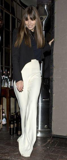 Jessica Biel...pant suit....retro chic