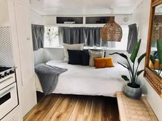 32 Vintage Viscount Caravan Ideas With Boho Interior. Painting the exterior needs a bit of know-how, since for the best results you must spray paint. Rather than having a white or cream coloured exterior ...