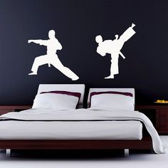 Karate Wall Decal Vinyl Sticker Kung Fu Martial Arts