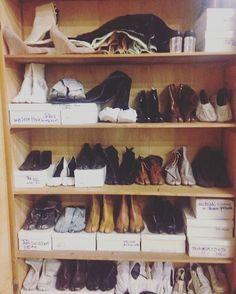 """""""@wemargiela - MMM Tabi Shoe collection of Vicky Roditis - Sales Manager Maison Martin Margiela Italy 1989-2010 ! via @wemargiela #margiela"""""""