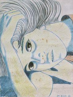 Dino Buzzati, Ritratto di donna, 1971.