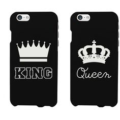 King and Queen Crown Matching Phone Cases for iphone 4, iphone 5,... ❤ liked on Polyvore featuring accessories, tech accessories and phone cases