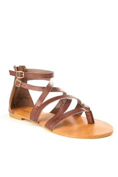 Double Buckle Strappy Sandals