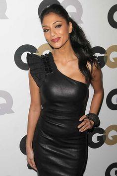 Nicole Scherzinger wears a sexy black dress to GQ Men of the Year Party