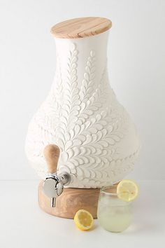 If I have too much money to care about, I'll buy this in a heartbeat! Verdant Drink Dispenser #anthropologie