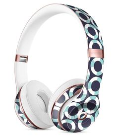 The All Over Teal and White Life Floats Full-Body Skin Kit for the Beats by Dre Solo 3 Wireless Headphones