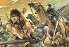 Viktor and Flik Cross Attack ● Suikoden II ● Suikoden, Video Game Art, Video Games, Gaming Wallpapers, Image Boards, Game Character, Final Fantasy, Anime Guys, Painting