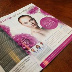 Gorgeous new ad for Plastic Surgery Center is out now. Time To Recharge. #design #advertising #plasticsurgery #flowers #summer