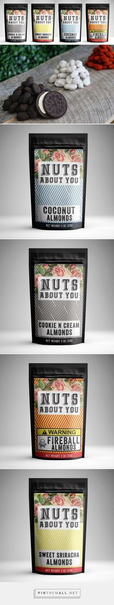 "Addictive Flavored Almonds by Nuts About You - Packaging of the World - Creative Package Design Gallery - <a href="""" rel=""nofollow"" target=""_blank"">www.packagingofth...</a>"