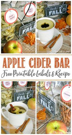 Cute apple cider bar