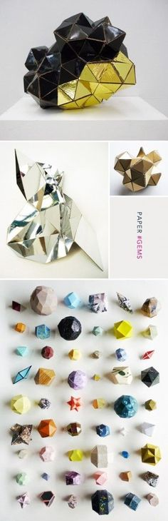 Paper gem sculptures  by Lydia Kasumi Shirreff