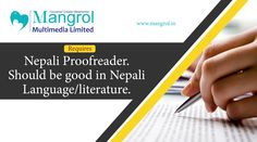 Looking for a Nepali Proofreader. Should be good in Nepali Language / Literature.  #Nepali #Proofreader #translation #literature #proofreading #mumbai