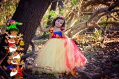 Snow White Inspired Couture Flower Girl Tutu Dress