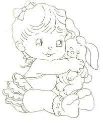 Image result for riscos de bebe menino para pintura em fralda