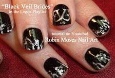 """black veil brides"" ""nail art"" ""black veil brides nails"" ""black nail art"" ""black and silver nails"" ""black nail ideas"" ""diy nails"" ""diy naiil art"" ""band nails"" ""rock band nails"" ""how to nails"" ""band logo"" paint robin moses nailart nails how-to painting Black Nail Designs, Cute Nail Designs, Nail Art Diy, Diy Nails, Band Nails, Silver Nails, Glittery Nails, Claw Nails, Bands"