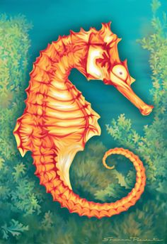 Seahorse Painting by Shannon Posedenti