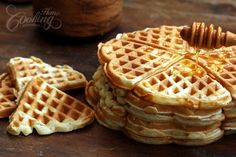This is my favorite waffle recipe so far. The batter is easy to work with and the waffles come out light, crispy and fluffy. Perfect for breakfast or as dessert.