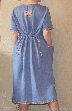Plus Dresses, Linen Dresses, Simple Dresses, Cotton Dresses, Simple Kurti Designs, Blouse Designs, Dress Designs, Casual Dress Outfits, Dress Patterns