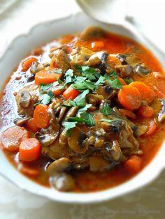 Poulet crémeux aux champignons et carottes | Une Plume dans la Cuisine