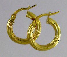 08caf148c04 GoldcraftEARRINGS VERSACE · 10k small hoop earrings