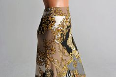 Bella Tango skirt in Golden Print by ColeccionBerlin on Etsy