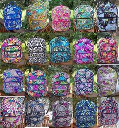 VERA BRADLEY Campus Backpack NEW College School Professional Pattern Variety #VeraBradley #BackpackStyle