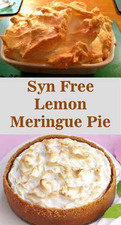 Syn Free Lemon Meringue Pie Use a electric whisk. You can do it by hand but it w. - Syn Free Lemon Meringue Pie Use a electric whisk. You can do it by hand but it will take time and y - Slimming World Brownies, Slimming World Deserts, Slimming World Speed Food, Slimming World Puddings, Slimming World Recipes Syn Free, Slimming World Meringue, Syn Free Desserts, Dessert Recipes, Cupcake Recipes