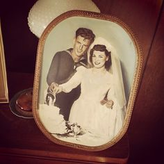1945 wedding. His curl! :0 <3