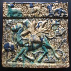 Tile with Bahram Gur hunting - Iran, ca. 1275
