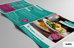 A new brochure to promote the Catering Service for Hope Catering in Northampton.