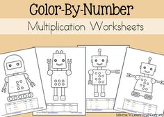 FREE Multiplication Color by Number Worksheets - Frugal Homeschool Family